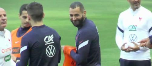 Karim Benzema mis à la même table que Giroud - Photo capture d'écran vidéo RMC