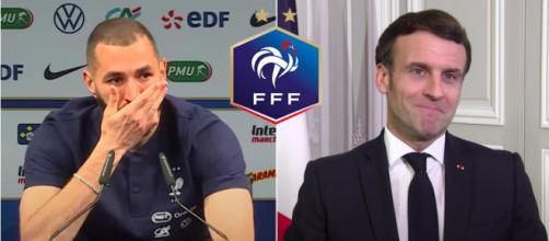 Le retour de Benzema chez les Bleus - Photos captures d'écran vidéo Youtube et Logo FFF.FR