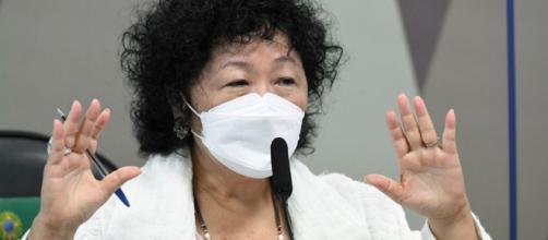 Nise Yamaguchi sai em defesa da cloroquina (Jefferson Rudy/Agência Senado)