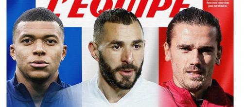 'Tous les pays nous les envient', la Une tricolore du journal L'Équipe (Credit : L'Équipe)