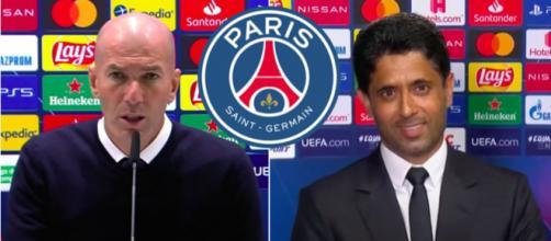 Zinédine Zidane devrait signer au PSG - Photo captures d'écran vidéo YouTube et logo PSG