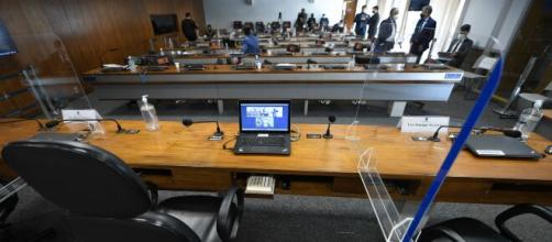 Membros da CPI da Covid lamentam mortes (Edilson Rodrigues/Agência Senado)