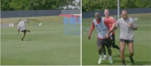 Thierry Henry régale à l'entrainement des Diables Rouges - Vidéo