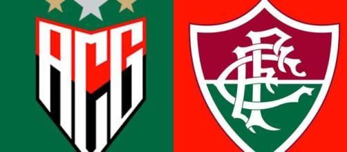 Atlético-GO x Fluminense terá transmissão ao vivo do SporTV (Arte/Eduardo Gouvea)