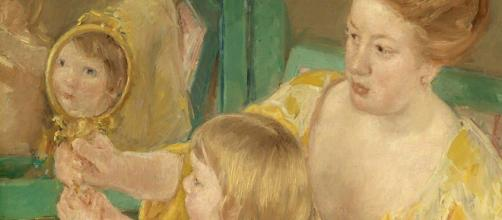 """Mary Cassatt's """"Mother and Child"""" (Image source: Plum leaves/Flickr)"""