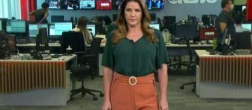 Christiane Pelajo aparece estressada em vídeo vazado (Reprodução/GloboNews)