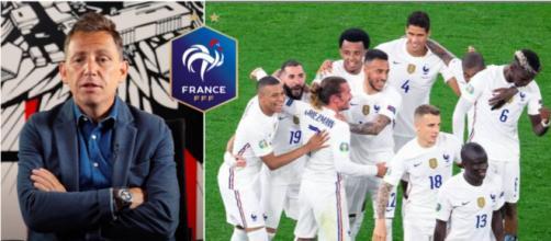 Daniel Riolo s'enflamme pour l'équipe de France - Photo captures d'écran vidéo YouTube et Instagram Équipe de France