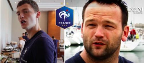 Des internautes voient une ressemblance entre Pavard et Jourden - Photo captures d'écran vidéo YouTube et logo FFF wikipedia
