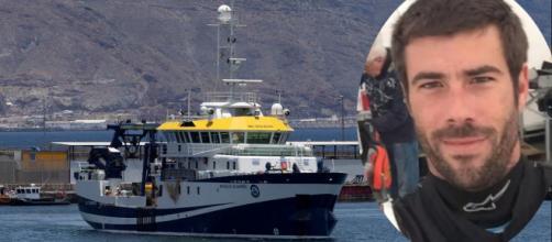 El buque oceanográfico Ángeles Alvariño que busca a Anna y Tomás Gimeno. (Captura)