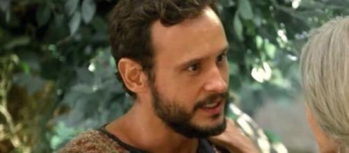 Isaque sofre em 'Gênesis'. (Reprodução/RecordTV)