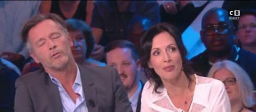 Les deux chroniqueurs de TPMP Géraldine Maillet et Jean-Michel Maire. Source : capture d'écran C8