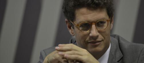 O ex-ministro do Meio Ambiente, Ricardo Salles, alvo de investigações por suspeita de crimes ambientais (Agência Brasil)