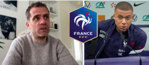 Le coup de gueule de Rothen contre Mbappé - Photo capture d'écran vidéo YouTube et logo FFF wikipedia