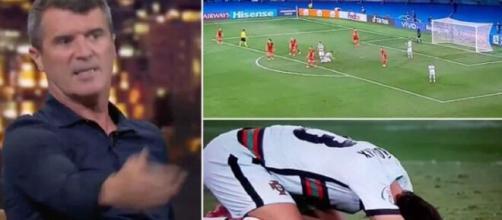 e jeune joueur portugais João Félix s'est attiré les foudres de Roy Keane. (Credit : captures Youtube et BeIN Sport))