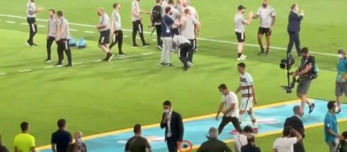 Ronaldo furieux après Portugal-Belgique - Source : capture d'écran, Twitter