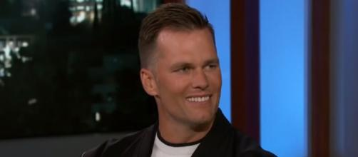 Brady recently led the Bucs to a Super Bowl win (Image source: Jimmy Kimmel Live/YouTube)
