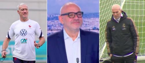 Deschamps - Hermel - Zidane Photo captures d'écran vidéo Youtube et Twitter