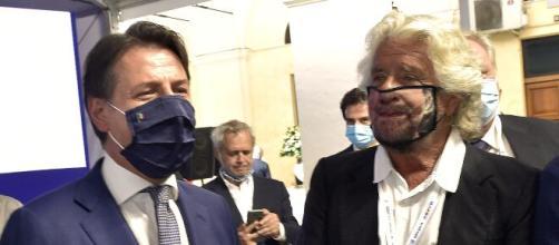 Giuseppe Conte e Beppe Grillo.