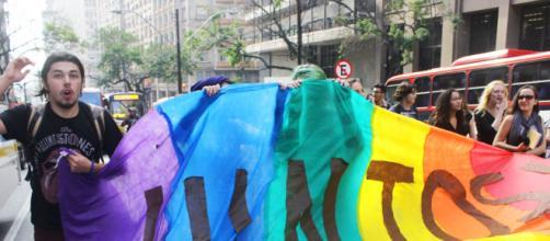 Imagen de una manifestación a favor de los derechos de las parejas gays (Fuente: Flickr.com)