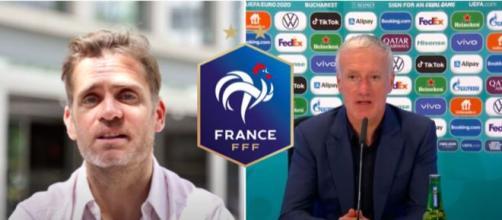 Jerome Rothen revient sur le groupe de Didier Deschamps - Photo capture d'écran vidéo Youtube et logo FFF