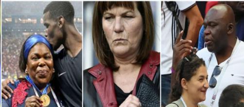 La mère d'Adrien Rabiot au coeur d'une embrouille en tribunes. (Crédit montage réseaux sociaux)