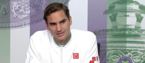 Le Suisse Roger Federer est revenu sur le match France-Suisse en marge du tournoi de Wimbledon - Source : Page officielle du tournoi de Wimbledon