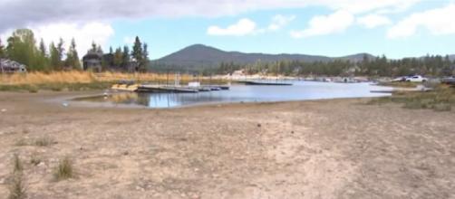 Drought taking big toll on Big Bear Lake (Image source/NBCLA YouTube)