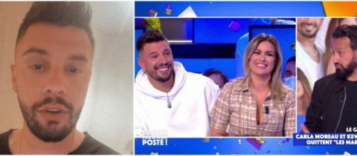 Kevin Guedj et Carla Moreau quittent définitivement Les Marseillais. Le candidat de télé-réalité réagit après son passage dans TPMP.