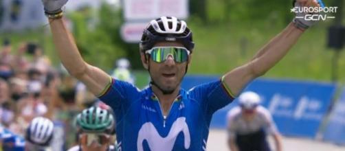 La vittoria di Alejandro Valverde nella sesta tappa del Giro del Delfinato.