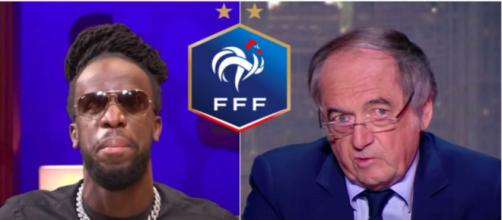 Le rappeur Youssoupha répond à Noël le Graët - Photos captures d'écran vidéo Youtube et logo FFF