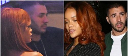 La star du ballon rond a partagé plusieurs moments avec la star de la chanson américaine Rihanna - Source : montage, Instagram