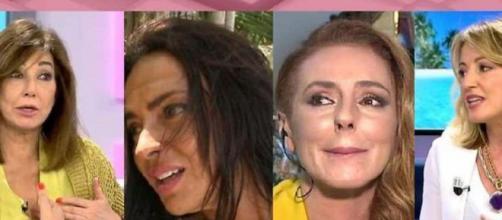 Ana Rosa Quintana vive un tenso momento con Sandra Aladro por la defensa de Olga Moreno (Telecinco)
