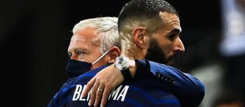 Didier Deschamps : 'Karim Benzema sait comment me remercier' (Credit : Europe 1 et TF1 - capture)