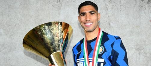 In foto Hakimi, difensore dell'Inter.