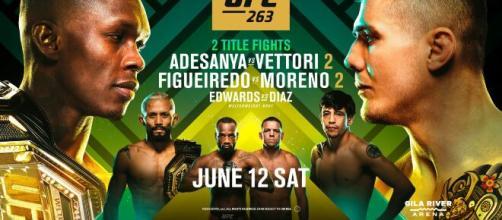 UFC 263: Adesanya vs Vettori 2, domenica 13 giugno in diretta su DAZN