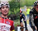 Juan Ayuso, dominatore del Giro d'Italia under 23, e Egan Bernal.