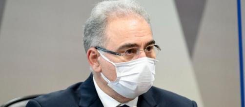 Ministro da Saúde, Marcelo Queiroga, presta novo depoimento à CPI da Covid (Jefferson Rudy/Agência Senado)