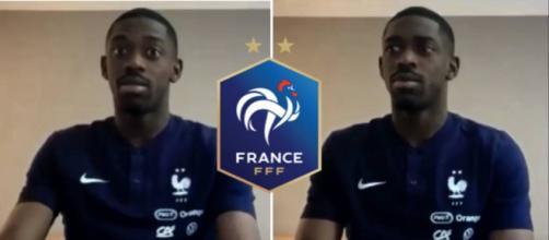 Ousmane Dembélé en pleine interview avant l'Euro 2020. (Crédit capture écran Twitter Team Orange Football Twitter)
