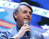 Jair Bolsonaro chora em culto evangélico em Anápolis (GO) (Alan Santos/PR)