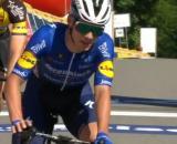 Remco Evenepoel, grande protagonista della prima tappa del Giro del Belgio.