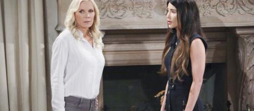 Beautiful, anticipazioni 21-27 giugno: Ridge vedrà il filmato di Brooke che bacia Bill.