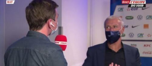 Didier Deschamps prend la parole sur la brouille Giroud-Mbappé - Source : Capture d'écran