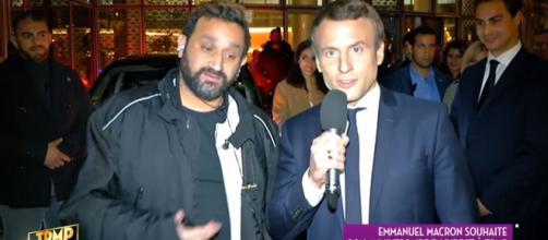 Cyril Hanouna et Emmanuel Macron dans TPMP. Source: capture d'écran C8