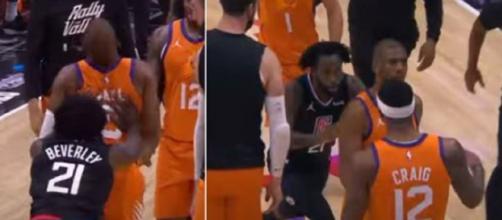 Lors de la rencontre NBA entre les Los Angeles Clippers et les Phoenix Suns, Patrick Beverley a complètement craqué - Source : capture Youtube)