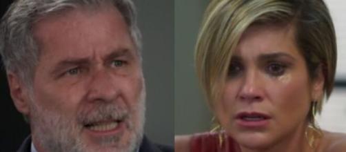 Hugo e Helena em 'Salve-se Quem Puder' (Fotomontagem/Reprodução/TV Globo)