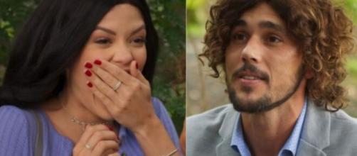 Kyra e Rafael em 'Salve-se Quem Puder' (Fotomontagem/Reprodução/TV Globo)