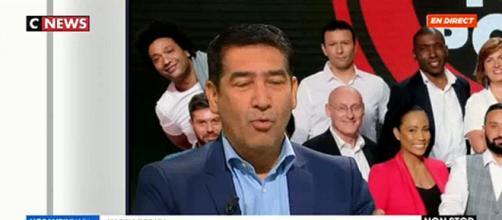 Le chroniqueur des émissions de BTP et de TPMP Karim Zeribi. Source : capture d'écran CNEWS.