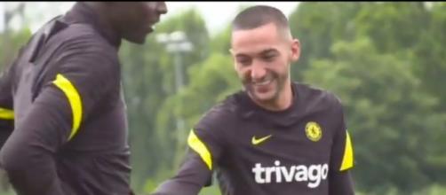 Hakim Ziyech se moque d'Edouard Mendy - Photo capture d'écran vidéo Twitter