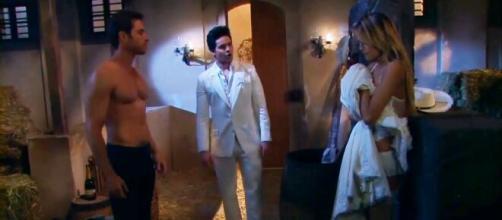 Roy pega Nikki e Gusmão no flagra (Divulgação/Televisa)
