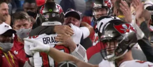 Brady and Arians formed a special bond last season (Image source: NFL/YouTube)